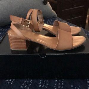 Saddle Block heel sandals